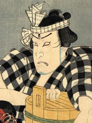 江戸後期に描かれたとされる巌家藤兵衛肖像。真贋は定かでない。