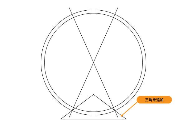 角度をきつくしたほうが見栄えが良くなるかと。ALEXRIMS R360は逆三角形ですね。